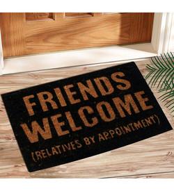 frineds welcome black coir mat