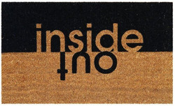 inside out printed natural coirmat