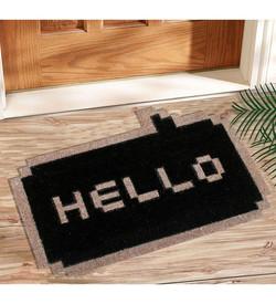 Hello coir mat1