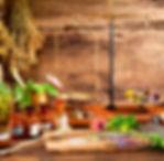 atelier d'herboriste cabane très jolie tout en bois