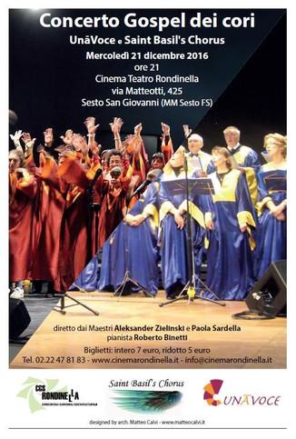 CONCERTO DI NATALE presso IL CINEMA TEATRO RONDINELLA  VIALE GIACOMO MATTEOTTI, 425 - SESTO SAN GIOV