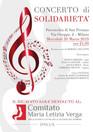 Concerto a favore del Comitato Maria Letizia Verga 20 marzo ore 21,00 Parrocchia di San Protaso Via