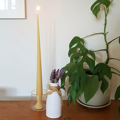 Dinner Taper Candle -100% Pure Beeswax