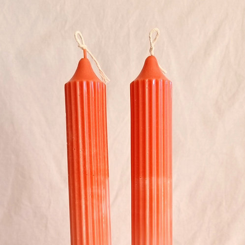 Misty - Coral Candle Stick, Pair