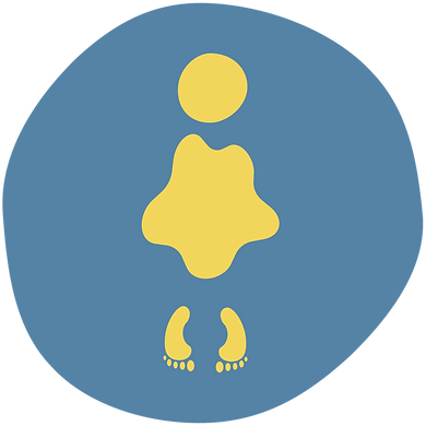 Yellow figure graphic
