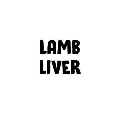Grass Fed Lamb Liver | DIY