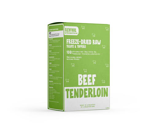 Grass Fed Beef Tenderloin | Revival Freeze Dried Raw