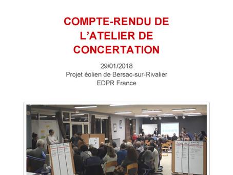 Atelier de concertation 29/01/2018 - Compte-rendu