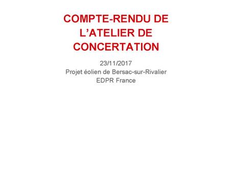 Atelier de concertation 23/11/2017 - compte-rendu