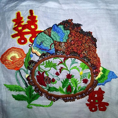 Hand embroidery art $150