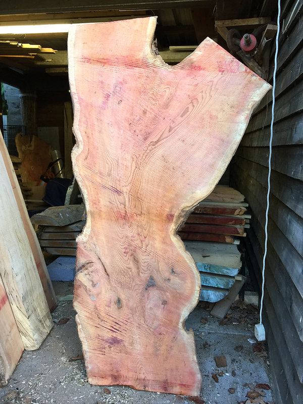 yew live edge wainy edge from sarum castle wiltshire rsin table
