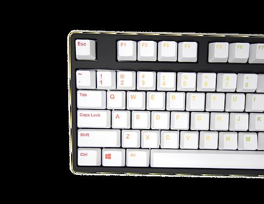 iKBC 104 Rainbow On White PBT Dye-Sublimated Keycap Set