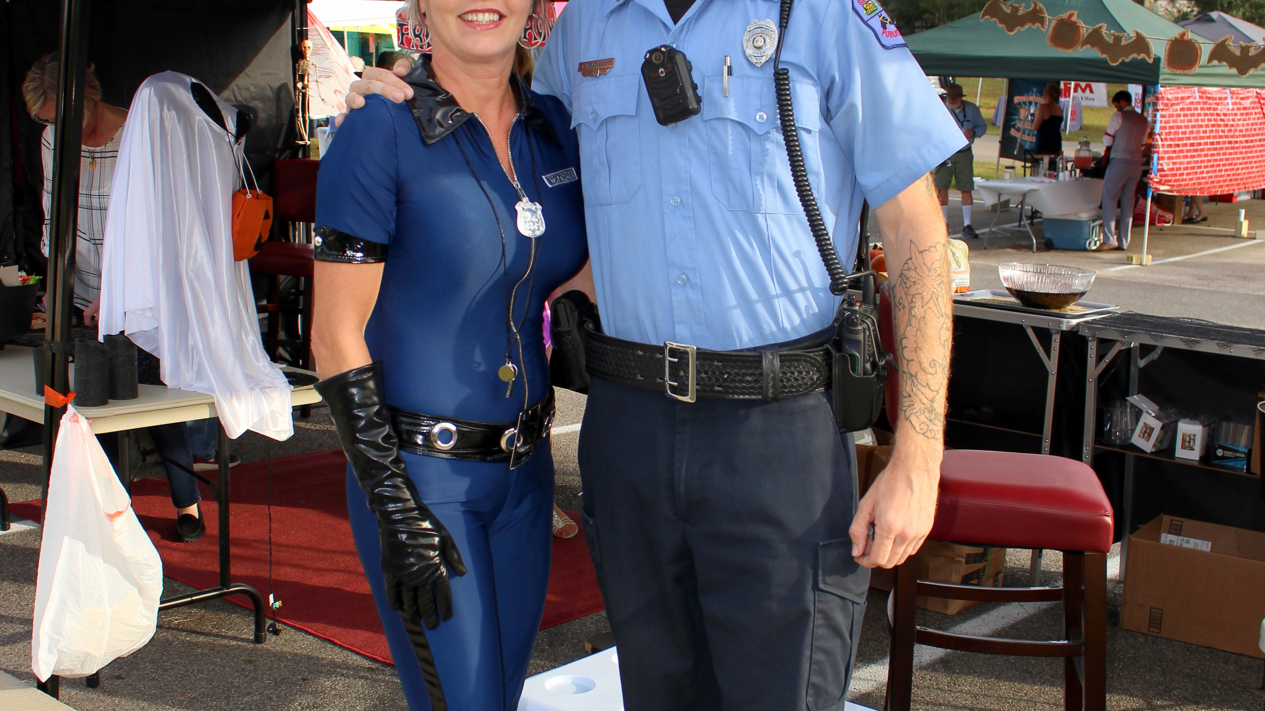 SPCA Operations Manager Michelle Floyd with City of Aiken Animal Control Officer Chris Weathersbee