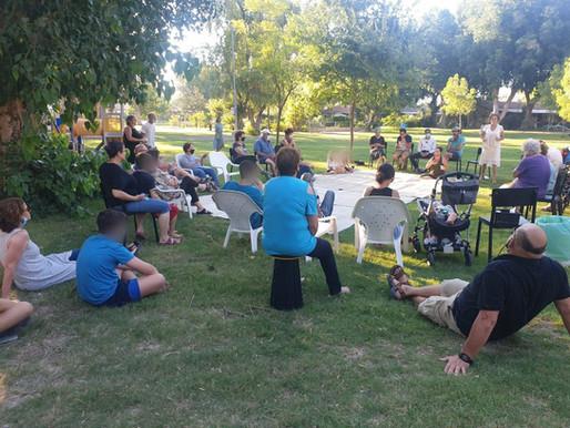 קבלת שבת משותפת ומוזיקלית לקהילת בית שאן וניר דוד