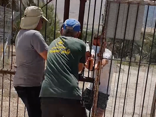 מעריב: המלחמה על נחל האסי: עשרות הפגינו בכניסה לניר דוד