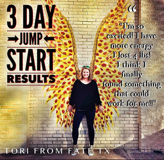 Tori gets results in just 3 days