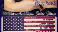 Working Out on the Holidays - American Flag Workout
