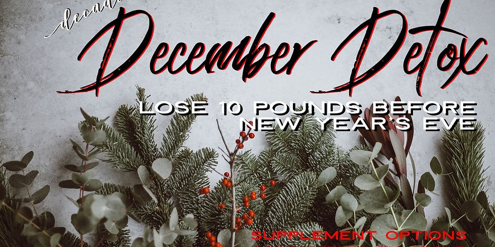 December Detox - Lose 10lbs Before the New Years Ball Drops