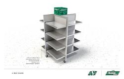 Four-sided Floor rack