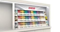 Sico paint chip display