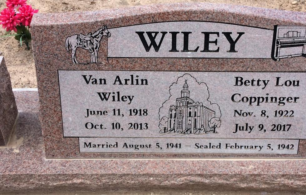 Wiley Slant Headstone