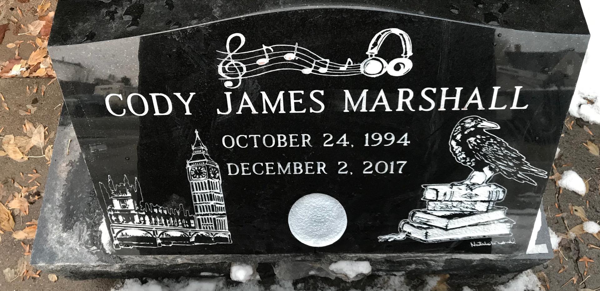 Marshall Slant Headstone