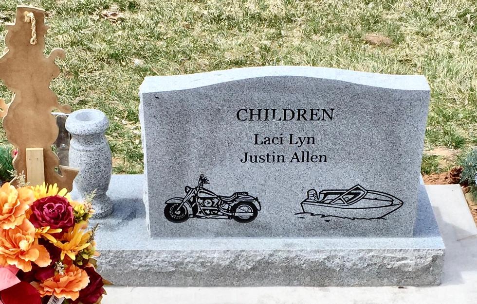 Allen Slant Headstone