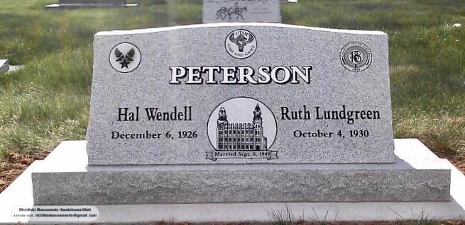 Peterson Slant Headstone