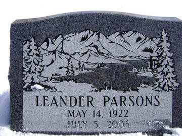 Parsons Slant Headstone