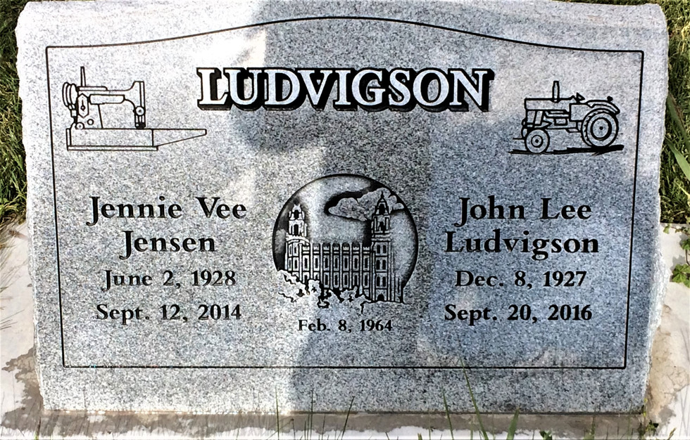 Ludvigson Slant Headstone