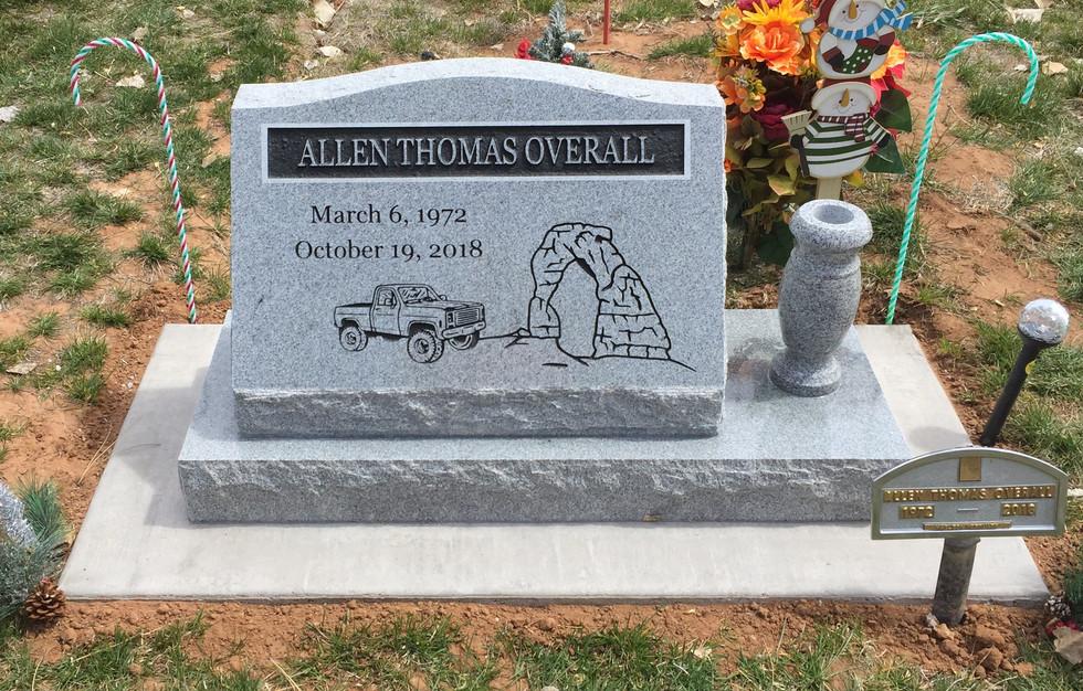 Overall Slant Headstone
