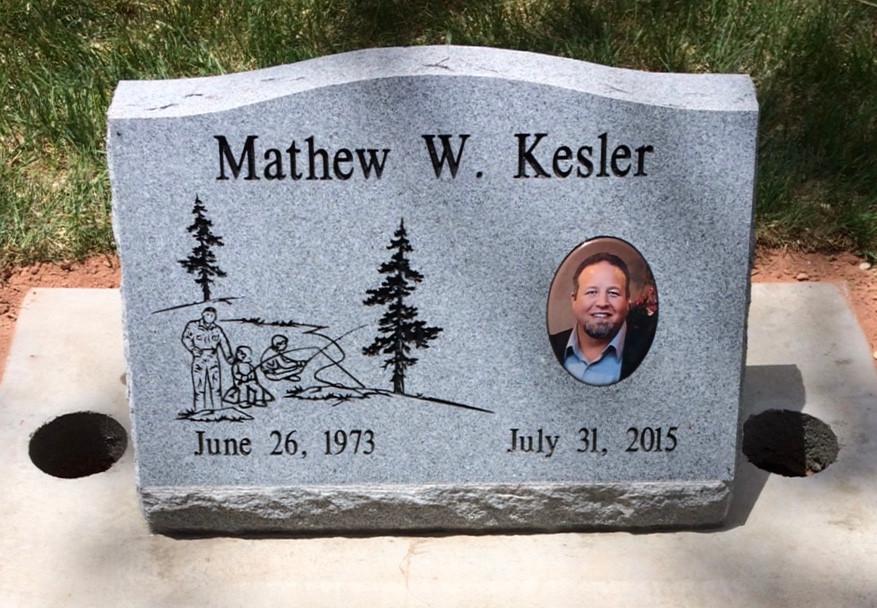 Kesler Slant Headstone