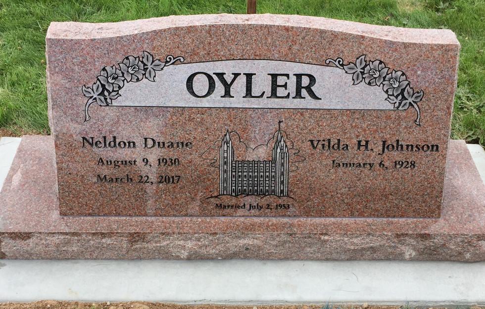 Oyler Slant Headstone