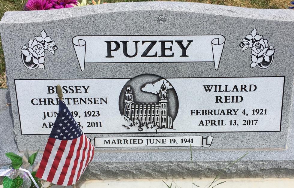 Puzey Slant Headstone