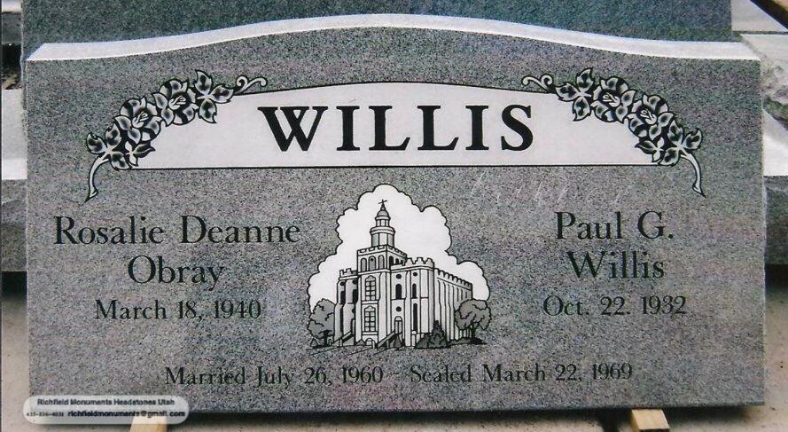Willis Slant Headstone