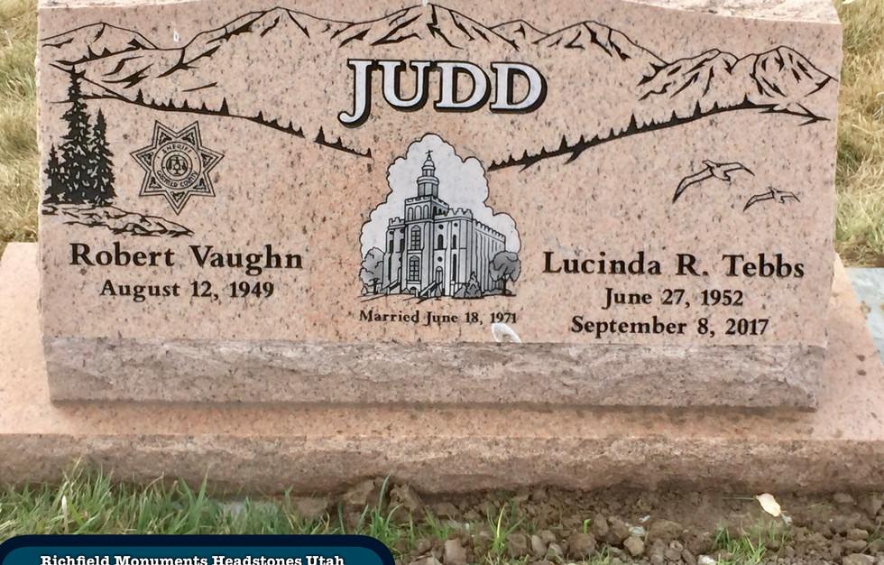 Judd Slant Headstone
