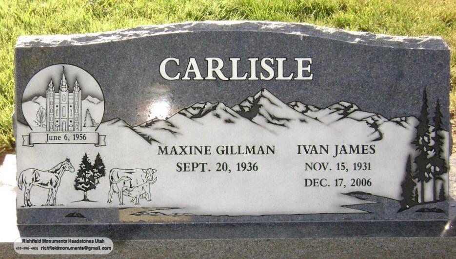 Carlisle Slant Headstone
