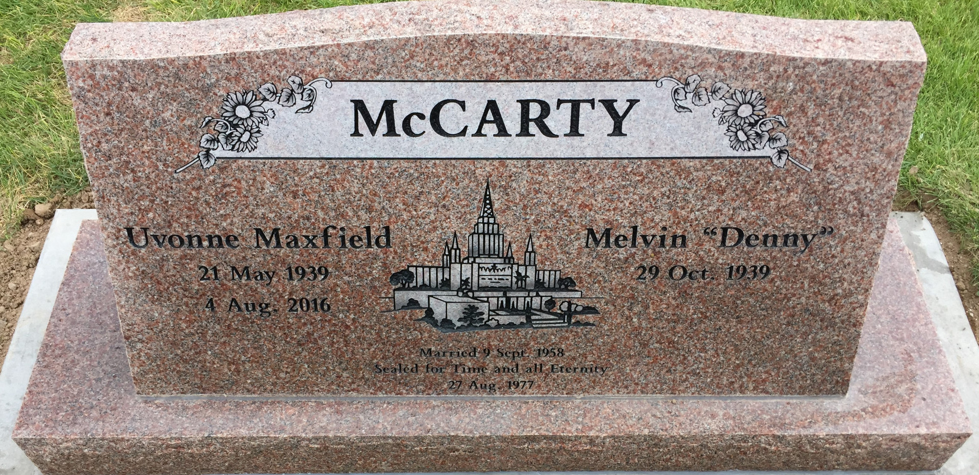 McCarty Slant Headstone