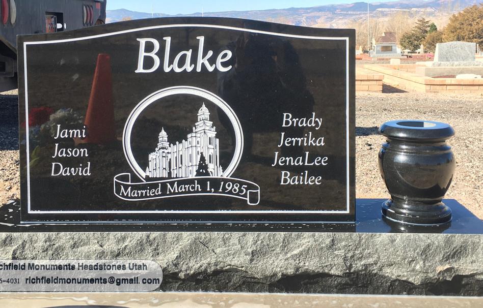 "2019 36"" black upright headstone 2.jpg"