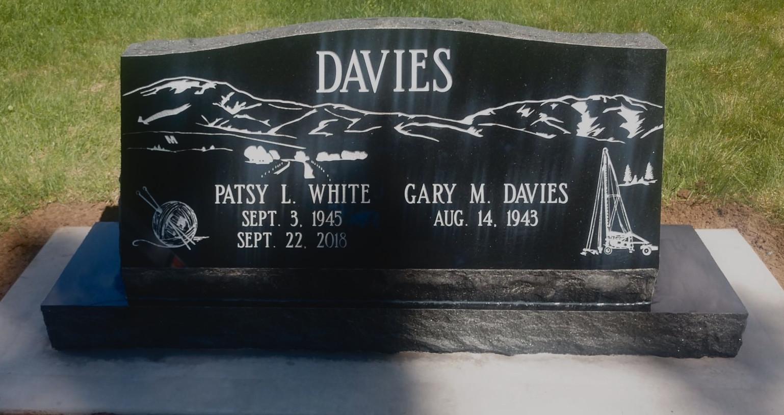 Davies Slant Headstone