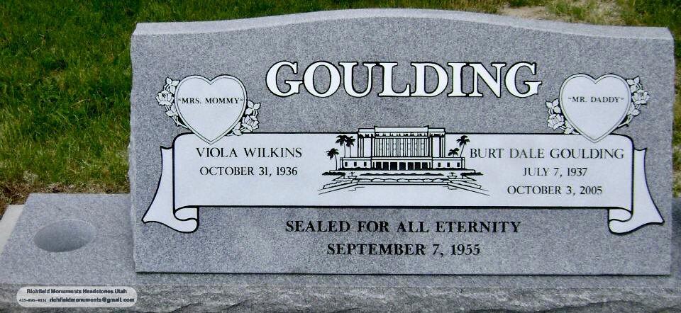 Goulding Slant Headstone