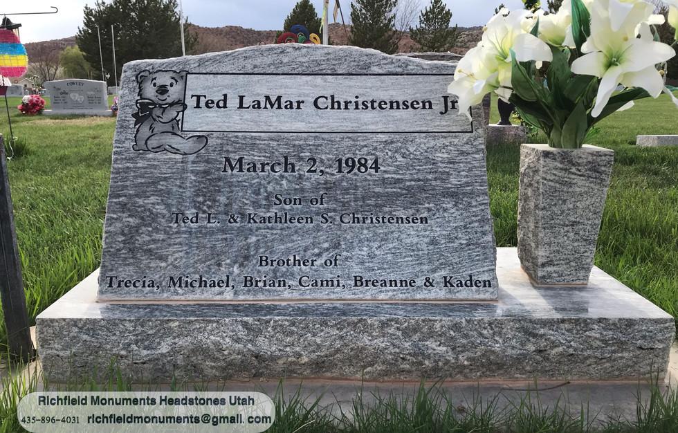 Christensen Slant Headstone