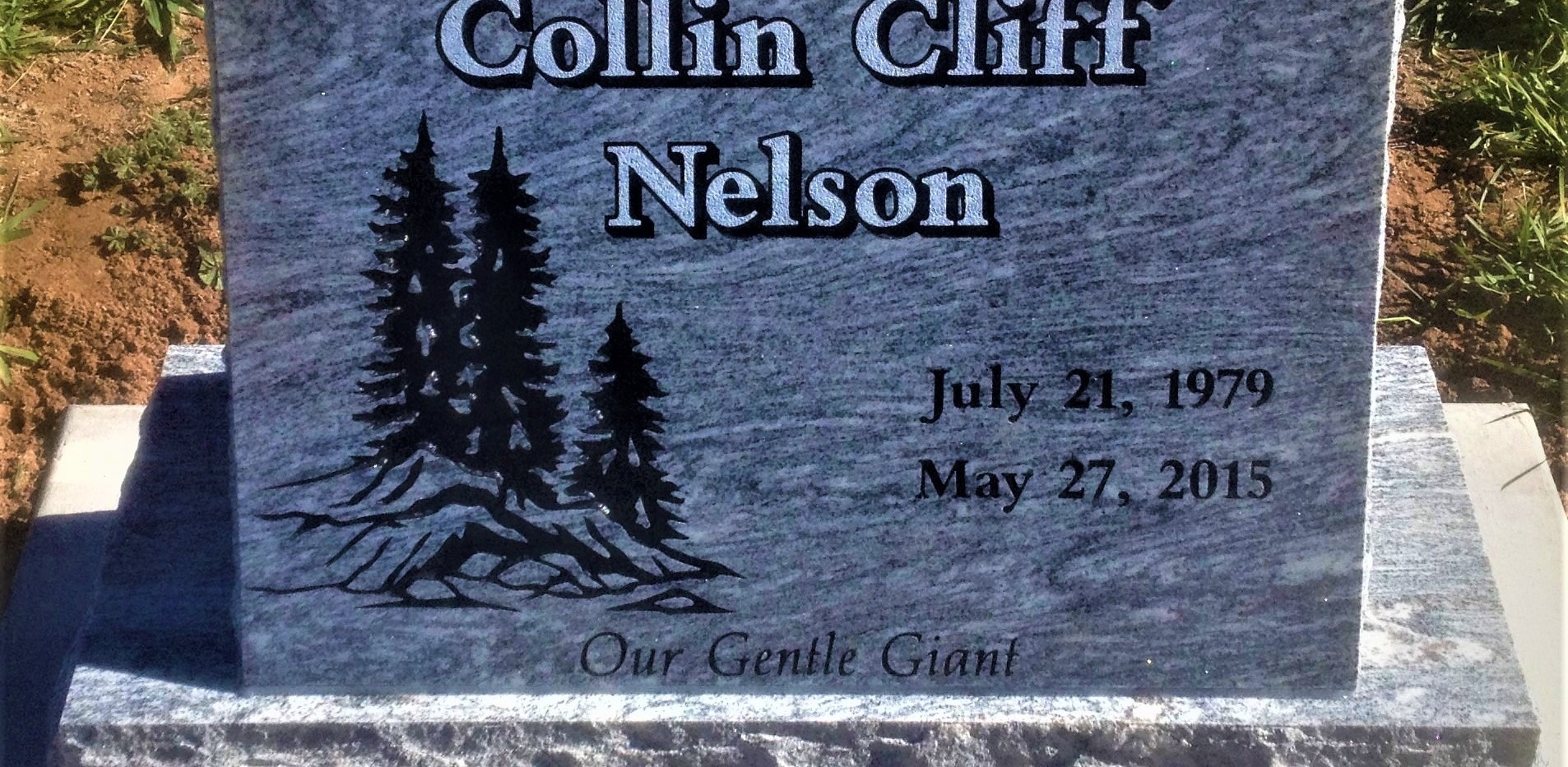 Nelson Slant Headstone
