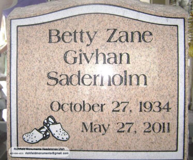 Saderholm Slant Headstone