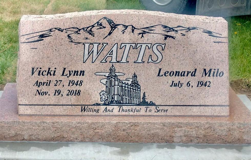Watts Slant Headstone