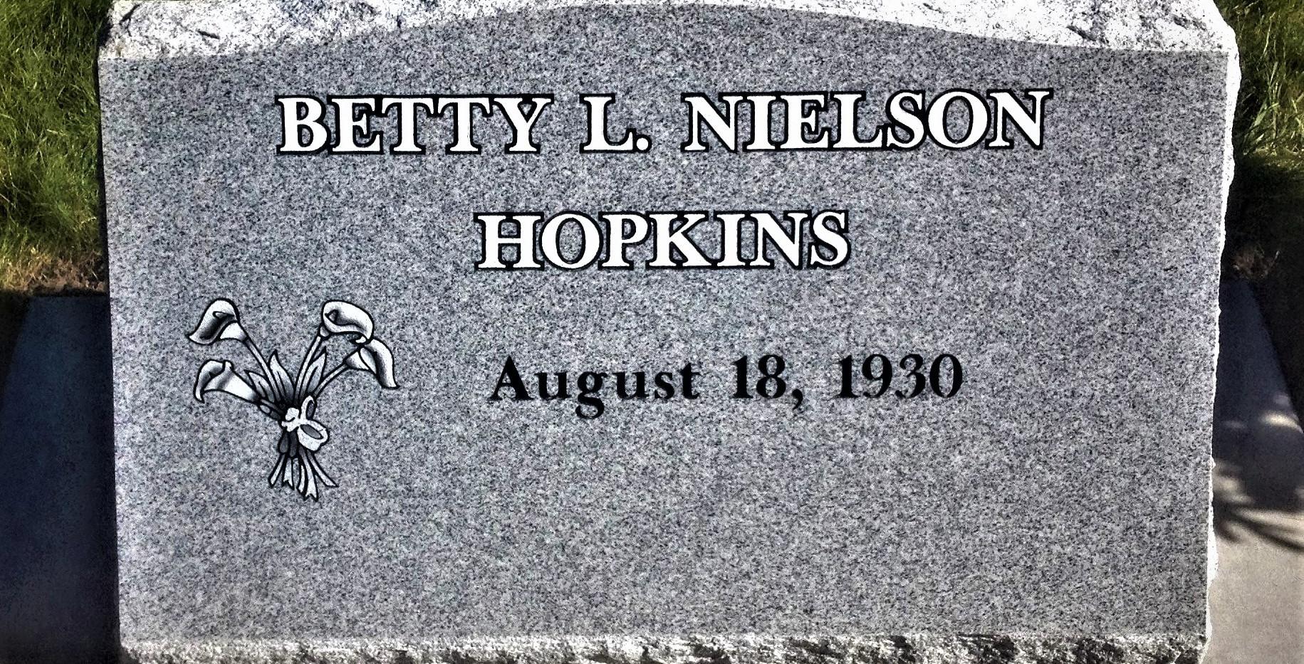 Hopkins Slant Headstone