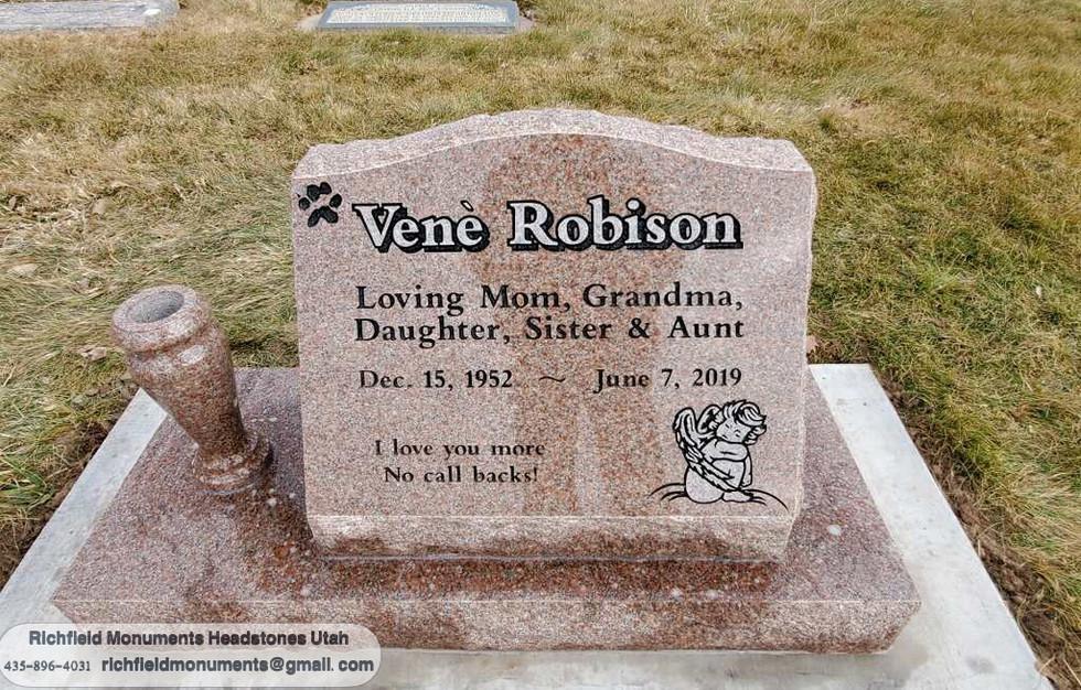 Robison Slant Headstone
