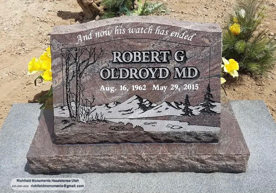 Oldroyd Slant Headstone