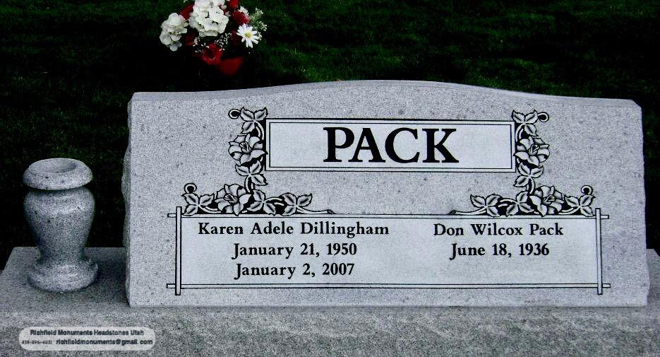 Pack Slant Headstone