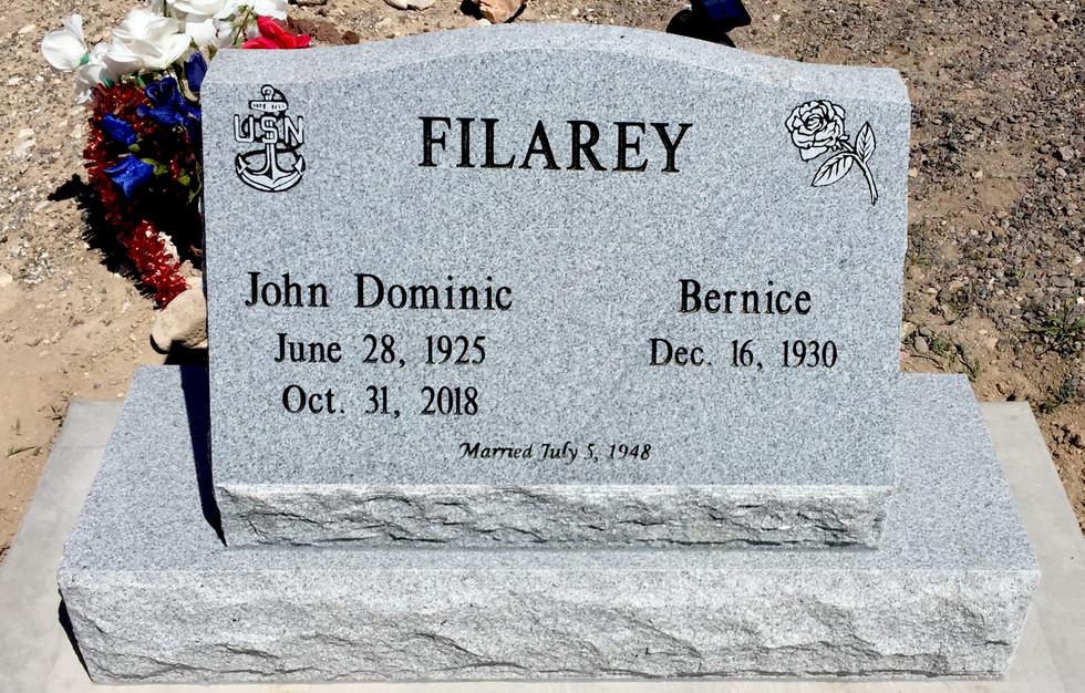 Filarey Slant Headstone